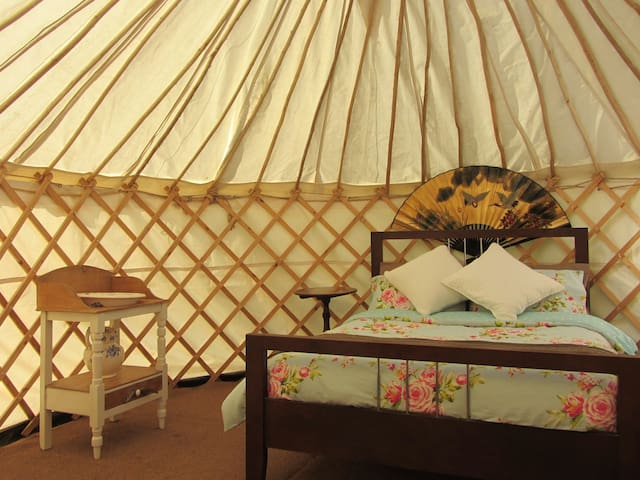 Yurts at Greenland Glamping in West Sussex