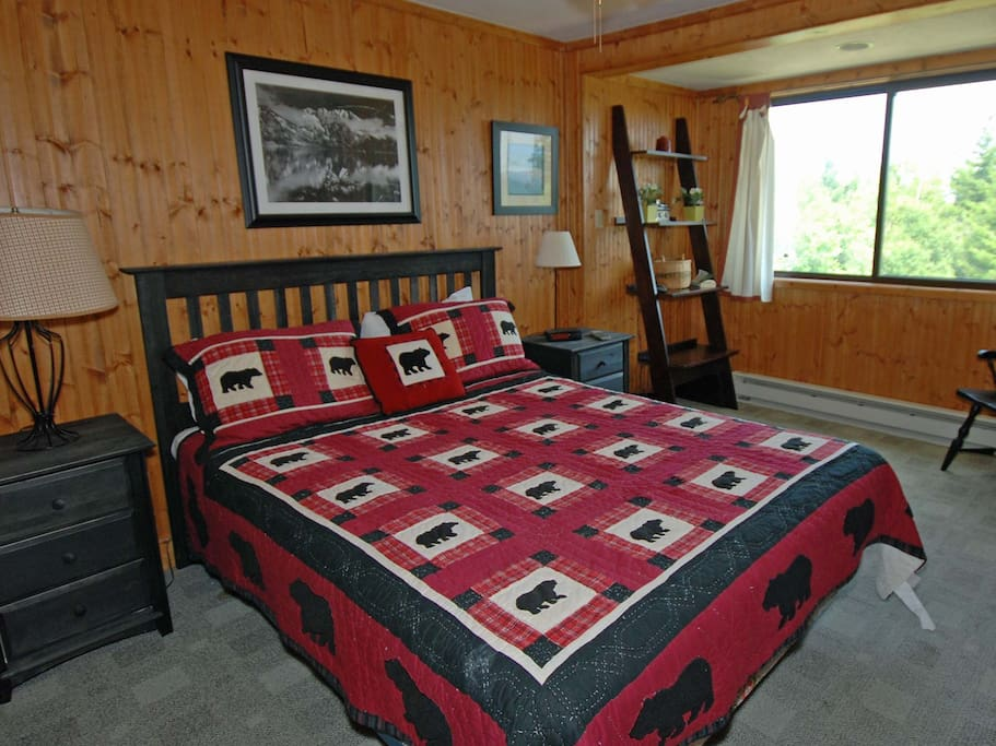 Master Bedroom - Upstairs. Pillowtop King Bed.
