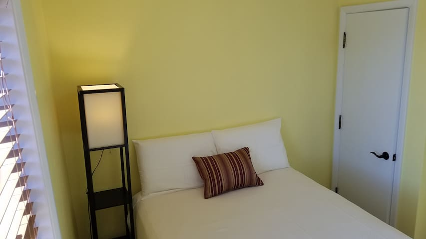 Second, smaller bedroom features one full sized bed.