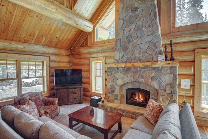 Stay cozy warm by the gas fireplace on those cold winter nights