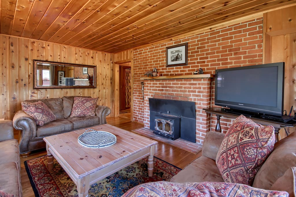 Share stories or watch movies around a roaring fire!