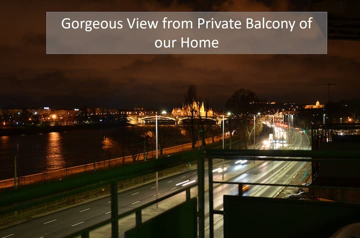 Stunning 2BR w Amazing River View in Peaceful Buda