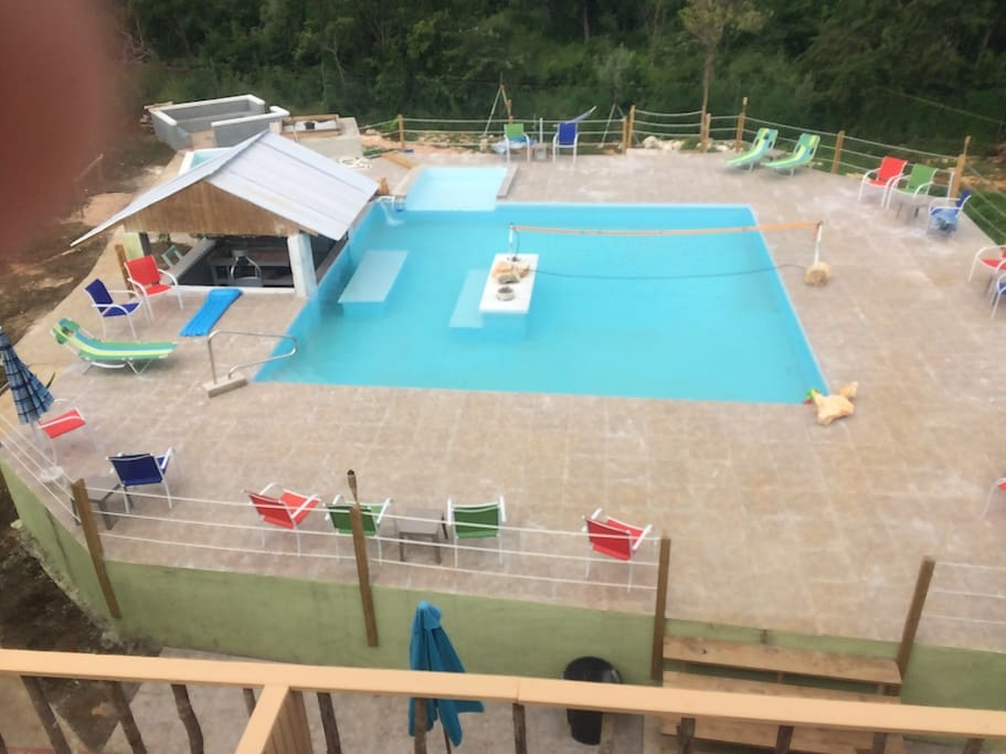 first floor pool and swim up bar