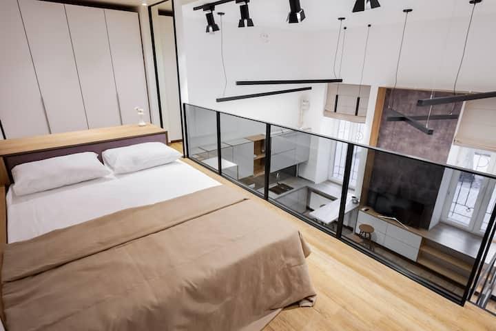 Двухуровневые апартаменты Студио 1В