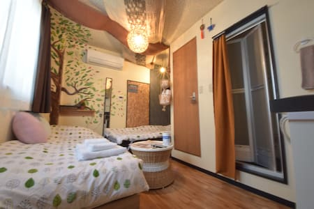*Cute*Tiny* Japanese single room - Osaka