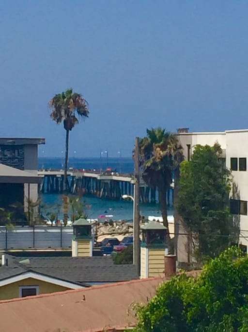 View of Venice Pier from Roof Deck