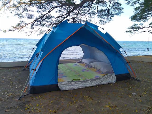 VIP Beach Tent with Queen size mattress, linens