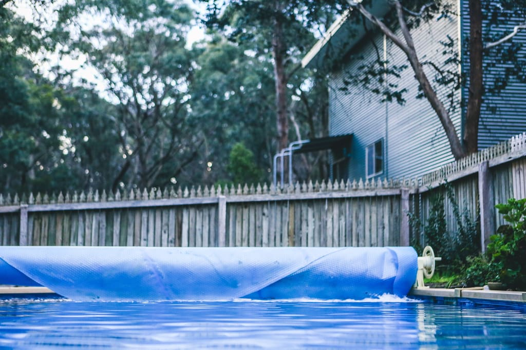 On the warmer days, enjoy a dip in the old pool, under the gumtrees!
