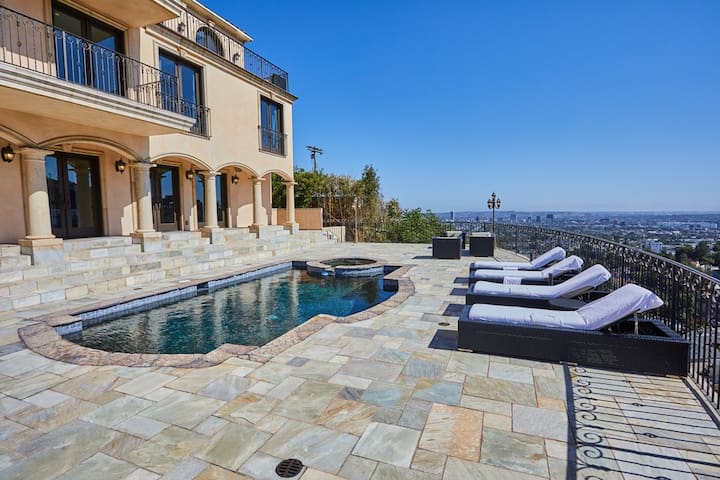 Hollywood Hills Gated Villa with Gorgeous Views.