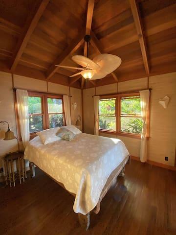 House One: queen bedroom