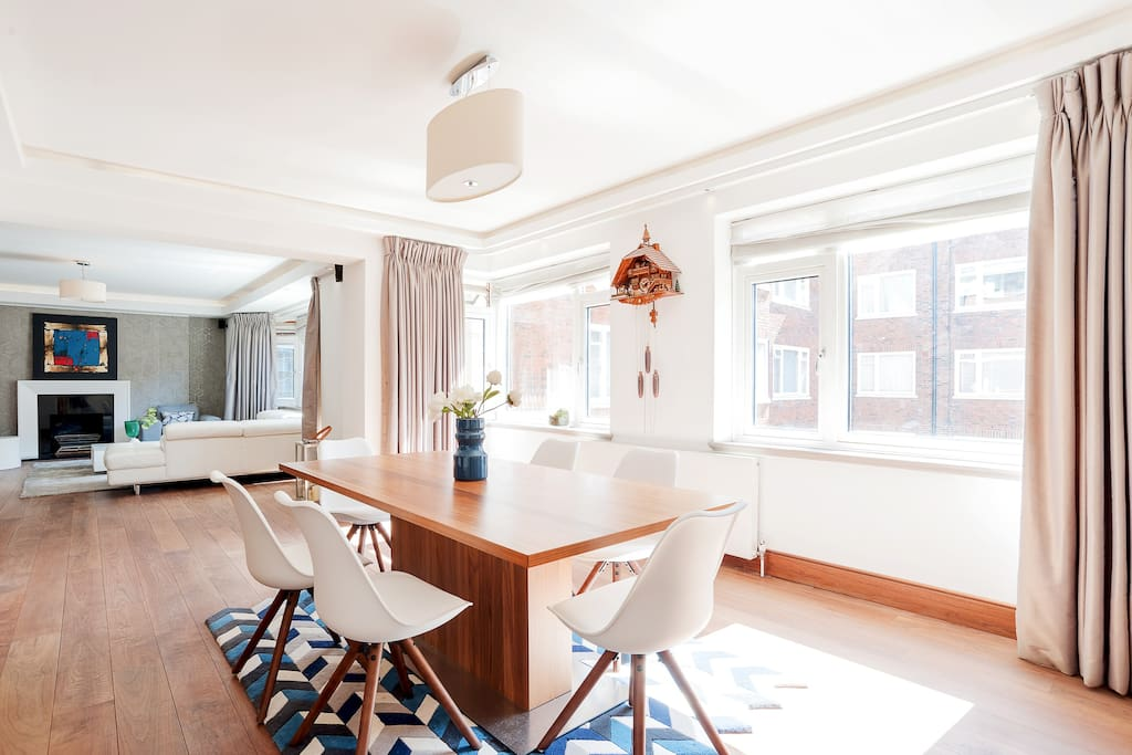 My property has everything you need; a modern living and dining area...