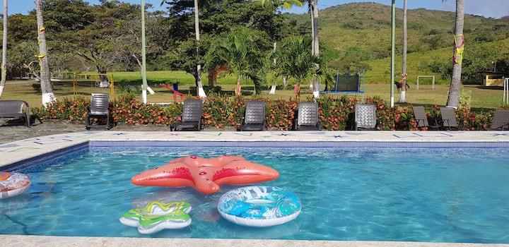 Hacienda Guadalupe Panamá recámara para 6 personas