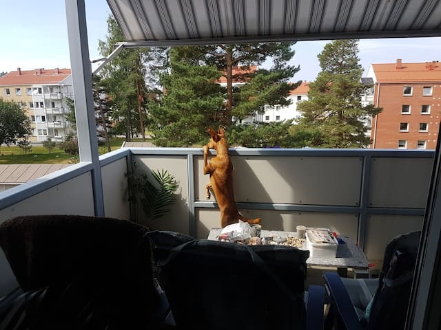 Balcony with grill (bbq)