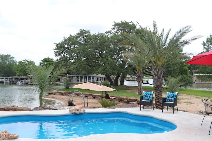 Pool, hot tub, private beach,  800 ft of waterfron