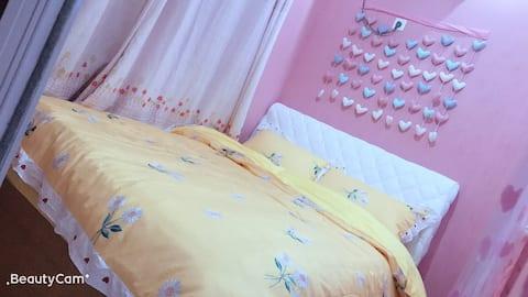 诗光里 好望角公寓楼一室一厅甜美粉色少女心暖心居适合拍照