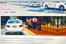 White Taxi from Airport