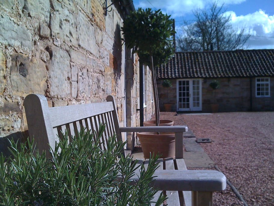 Kincaple Stables cottages from suntrap courtyard