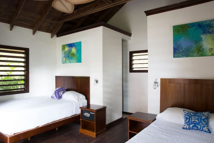 Our Double Sea View Bungalow has two beds and sleep up to 4 Guests.