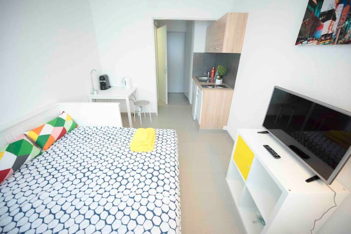 Great studio Geneva center 50m from Rhone