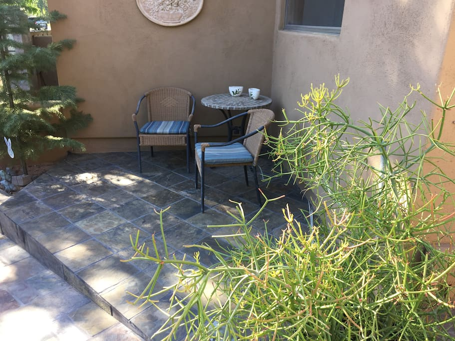 East facing patio, for your exclusive use!