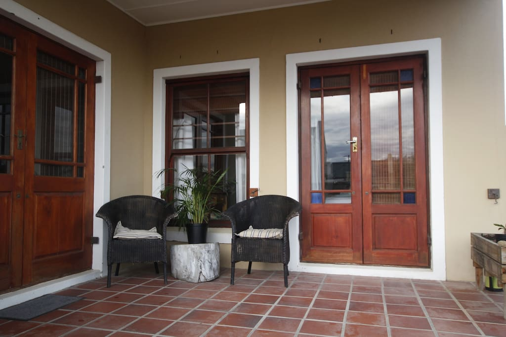 Patio with private entrance