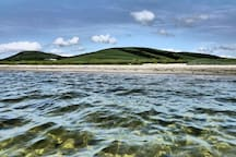 Ettrick Bay's amazing sandy beach and clear water.
