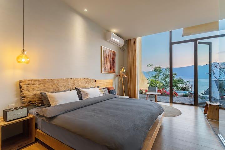 高品质海景花园大床房—独栋别墅/有早餐—免费接机接站—网红游泳池拍照