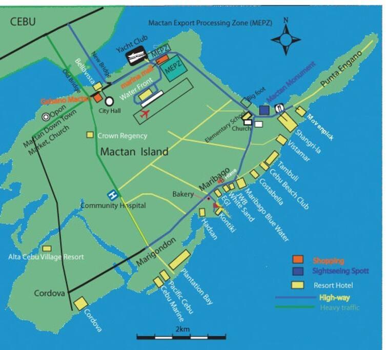 Map of Mactan Island