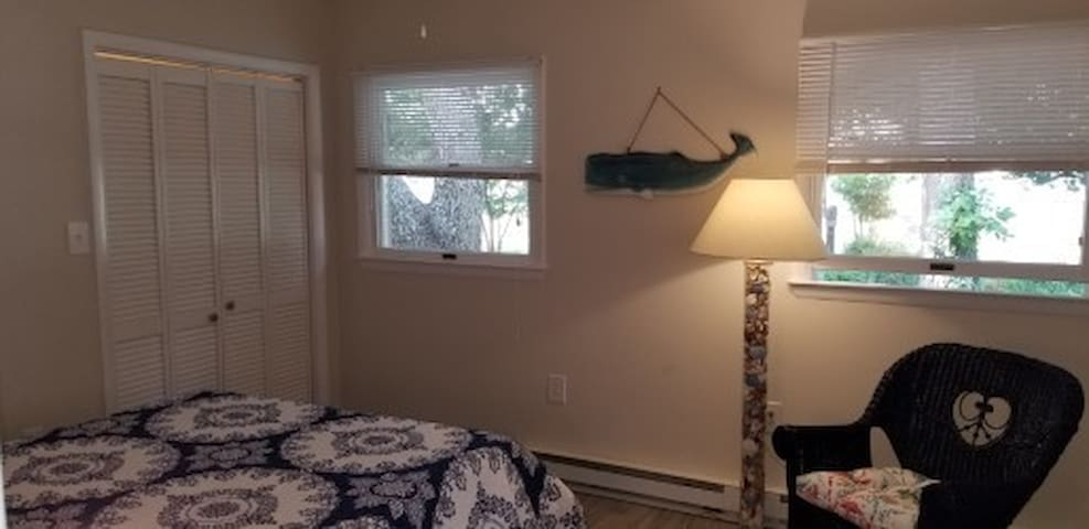 Nice bedroom with 2 closets and new queen memory foam comfortable mattress.