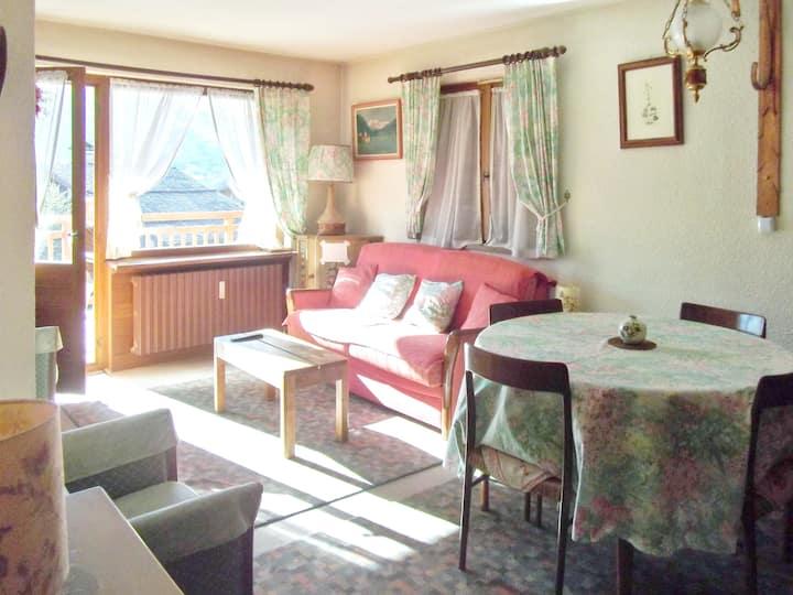 Apartamento de una habitación en Megeve, con magnificas vistas a las montañas y terraza amueblada - a 10 m de las pistas