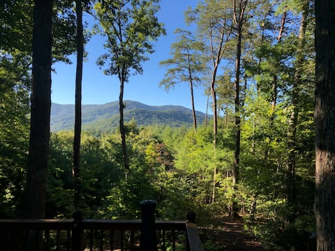 Beautiful Day looking at the Blue Ridge Mountains from the deck!