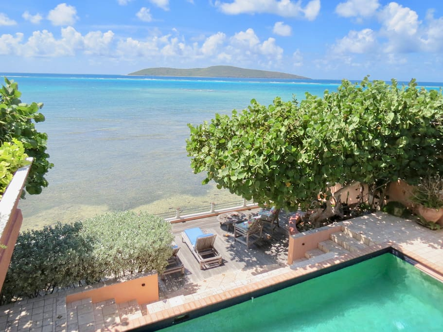 Balcony View of Buck Island/ Private Pool