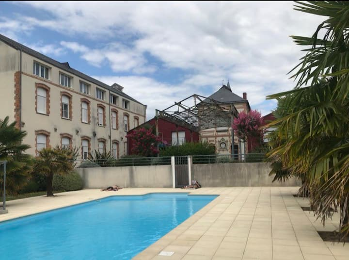 Appartement t2 agréable avec piscine sur Vertou