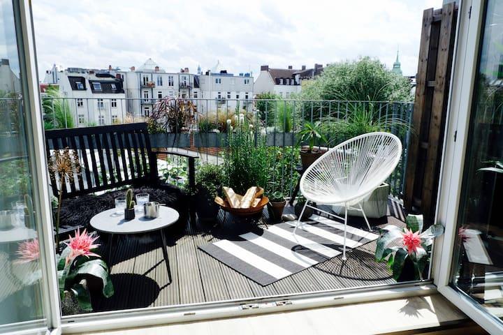 Zimmer in Loft-Apartment über den Dächern Hamburgs