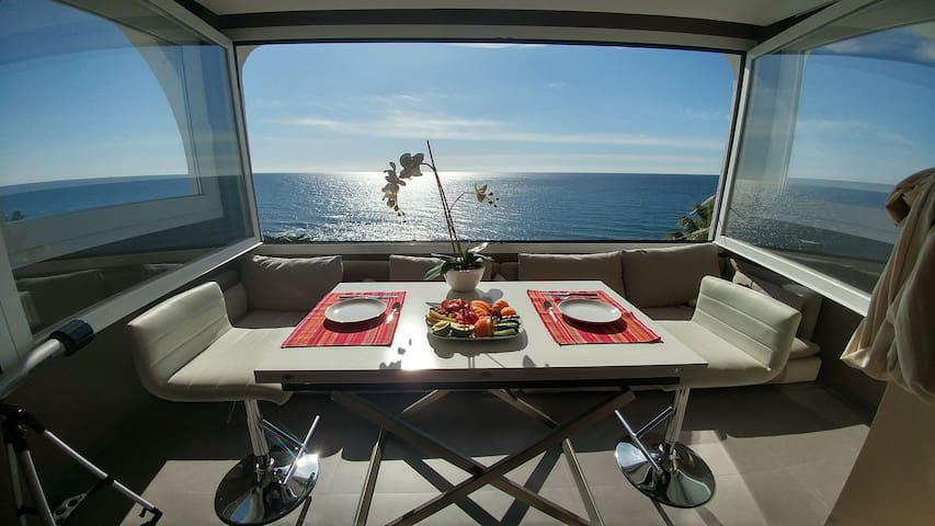 Penthouse with great ocean view - Mijas - Apartament