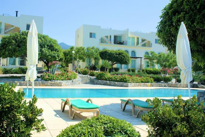 Beautiful SEA VIEW garden apartment