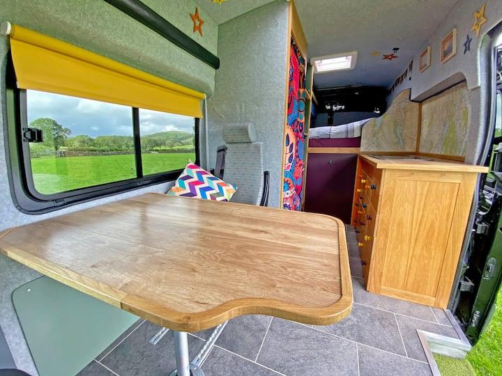Bespoke Camper Van with Oak Kitchen