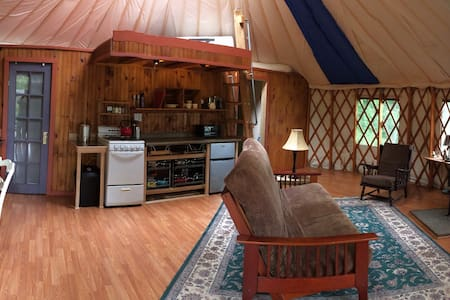 Secluded & Cozy Yurt w/ Gardens Grill & Fire pit