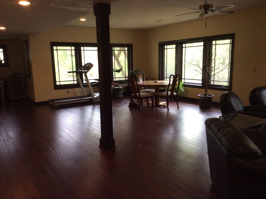 Large gathering space to host a party with fantastic river views