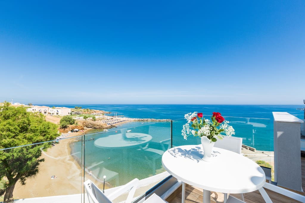 The villa is located only a stone-throw away from the sandy beach