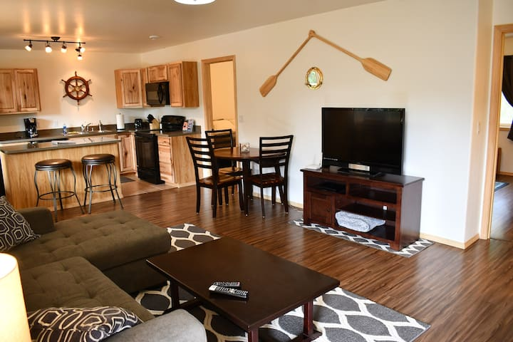 Walk into your beautiful and spacious 2 bedroom 1 bathroom Nautical Suite!