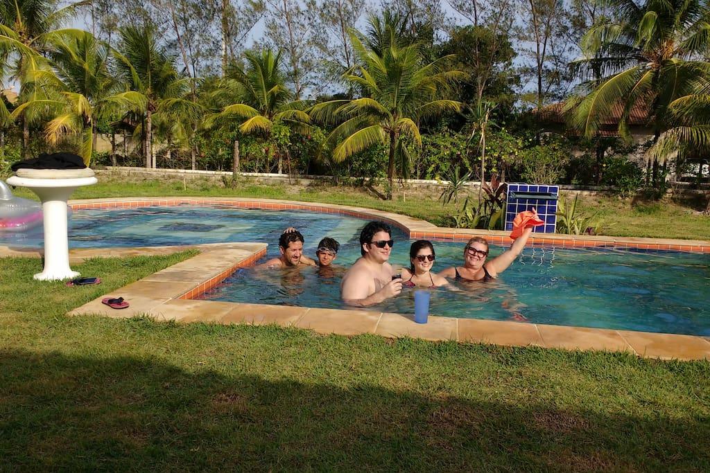 área externa, piscina