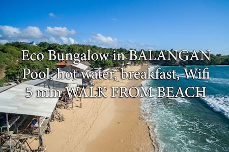 QUIET BUNGALOW - 5min to beach, wifi, pool, bfst B - South Kuta - Apartment