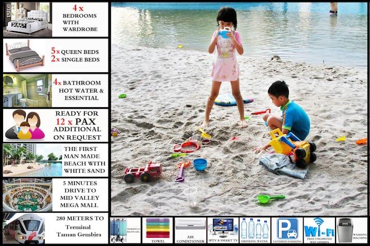 4Bedrooms: Beach Condominium Resort for 12 persons