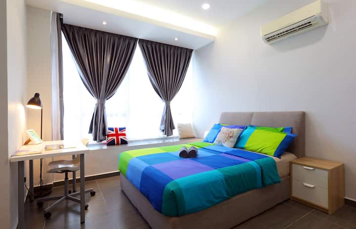 CozyHome #1, 2Bedrooms, 350m to KLCC Twin Tower