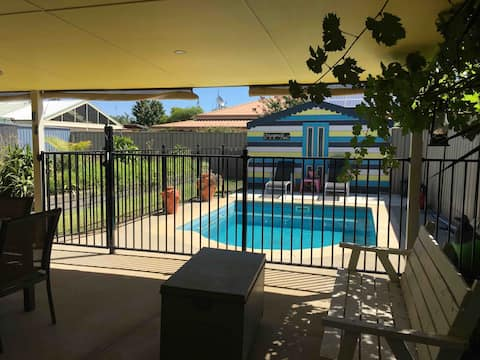 Poolside in sunny Echuca
