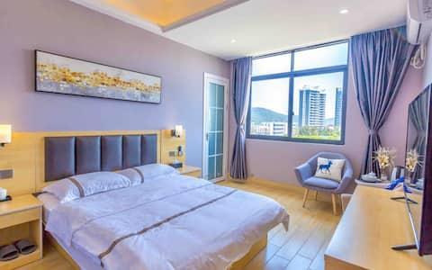 南澳岛特价豪华大床房,1.5米大床,18平米 房间配套齐全,独立卫生间
