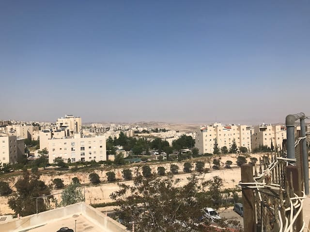 Roof apt. with wonderfull view to the Dead sea - Jerusalem - アパート