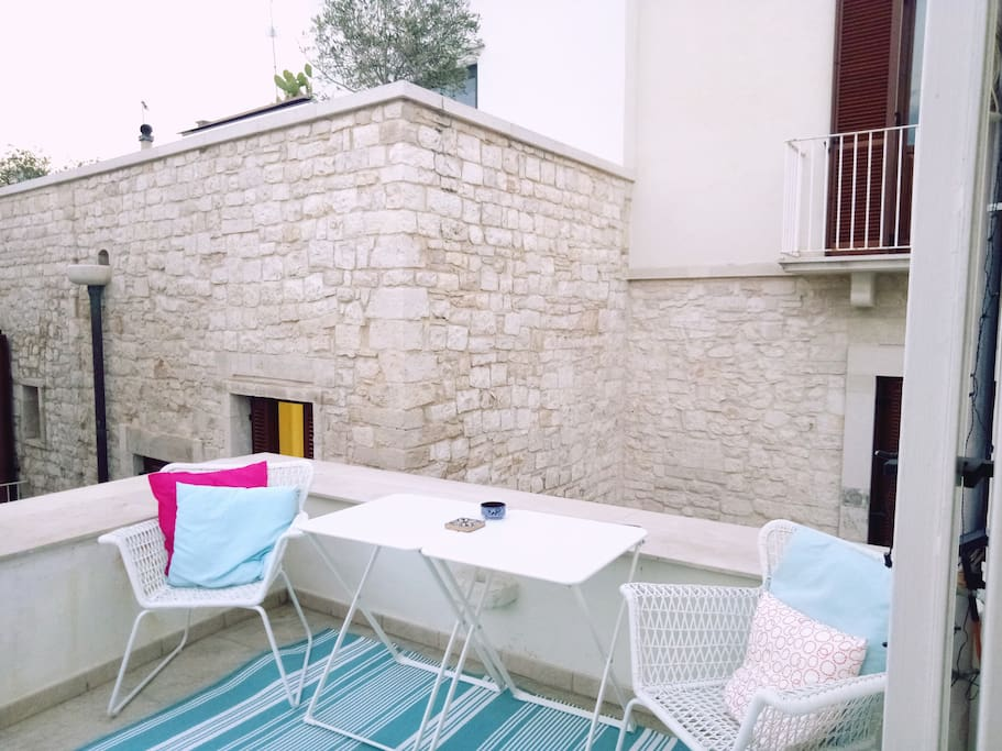 Terrace, it's Amazing - we're in the heart of Molfetta old town