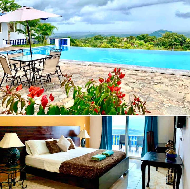 4) Boutique hotel with amazing views (Africa room)